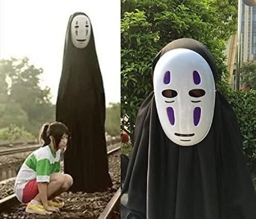 Gk O Spirited Away No Face Kaonashi Cosplay Costume With Purple Mask Clothes Gloves Asian Size Xl Amazon Sg Fashion
