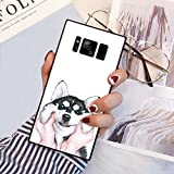 Samsung Galaxy S8 Plus Squared Case Heavy Duty Protection Shock Absorption Slim Soft TPU Edge and Hard PC Case Cover for Samsung Galaxy S8 Plus Husky Pug Dog Design