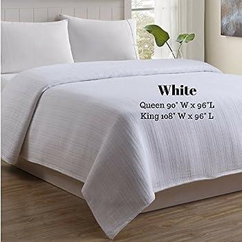 ComputerGear NASA Temperature Regulating Blankets Cotton Menopause Outlast (King, White)