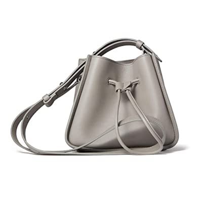 ec18f5a1336 3.1 Phillip Lim Gray Soleil Mini Bucket Drawstring Bag In Cement  Handbags   Amazon.com