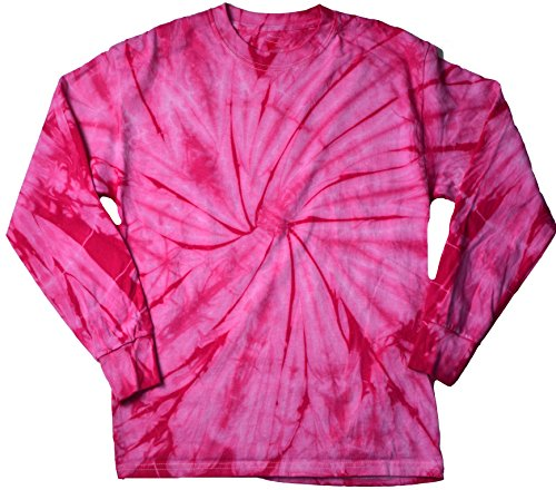 Colortone Tie Dye L/S 2X Spider Pink