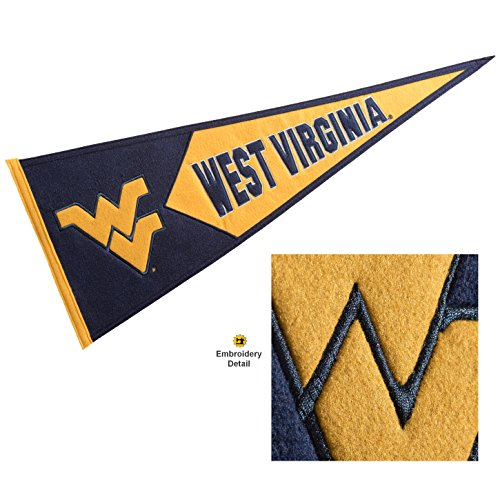 Winning Streak West Virginia Mountaineers Wool Embroidered and Sewn Pennant