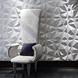 Tools & Hardware : Art3d Decorative 3D Wall Panels Diamond Design Pack of 12 Tiles 32 Sq Ft (Plant Fiber)