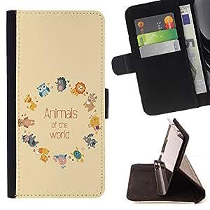 Jordan Colourful Shop - FOR Samsung Galaxy Note 3 III - animals of the world - Leather Case Absorciš®n cubierta de la caja de alto impacto