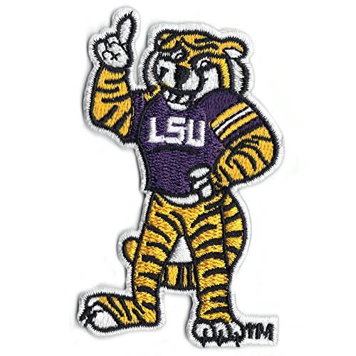 (Official Louisiana State 'LSU' Tiger Mascot NCCA College Logo Iron On Patch )