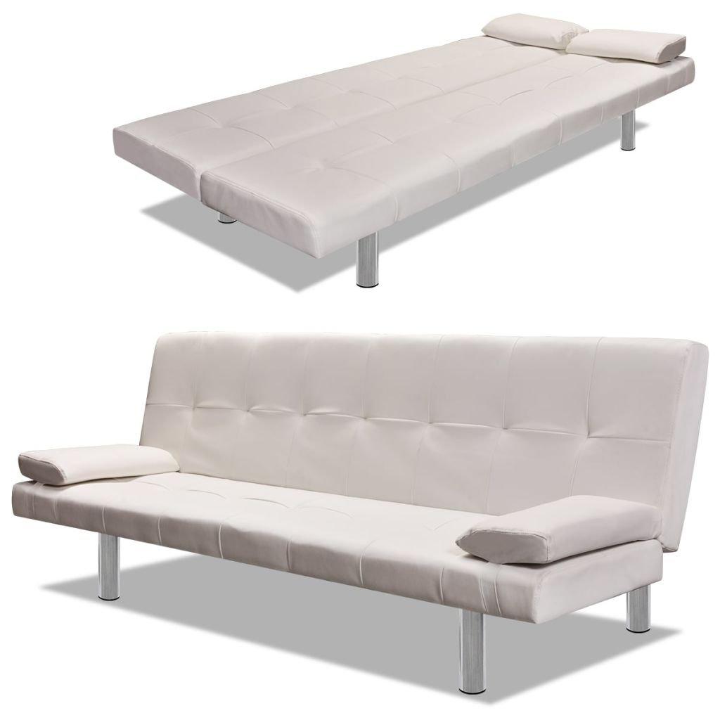 Furnituredeals Sofa de tela Sofa cama con dos almohadas ...