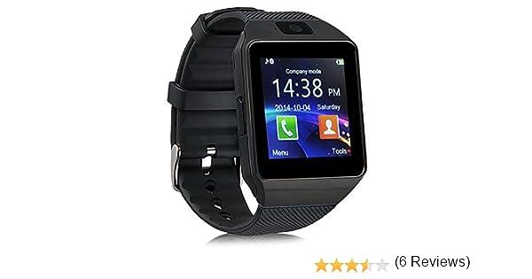Reloj inteligente de DZ09; Bluetooth, con ranura para tarjeta SIM y hacer llamadas telefónicas cámara de 2,0 MP, podómetro, monitor de sueño, ...