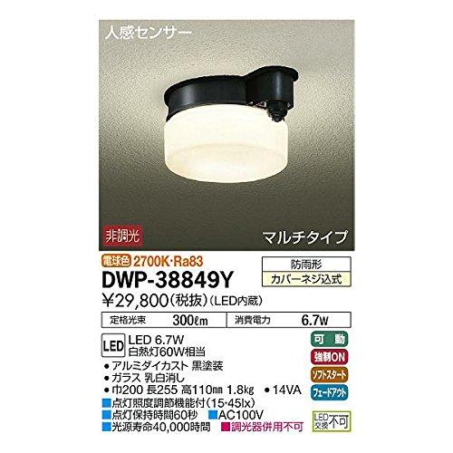 大光電機:人感センサー付アウトドアライト DWP-38849Y B01NALNPDN