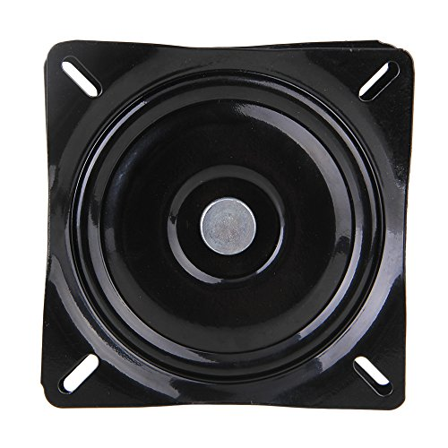 - BQLZR 6 inch A3 Steel Plate Black Ball Bearing Square Swivel Turntable Chair Swivel for Bar Stool Chair