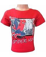 Spiderman Marvel Kinder Kurzärmeliges T-Shirt Rot