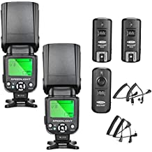 Neewer NW-561 Flash Speedlite Kit for Canon Nikon and Other DSLR Cameras,Include:(2)NW-561 Flash+(1)2.4G Wireless Trigger(1 Transmitter + 2 Receiver)