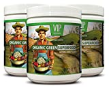 organic broccoli sprout extract - ORGANIC GREEN SUPERFOOD NATURAL BERRY FLAVOR - weight management formula 3 Cans 90 Serving, 276 Grams 9. 7 Oz each