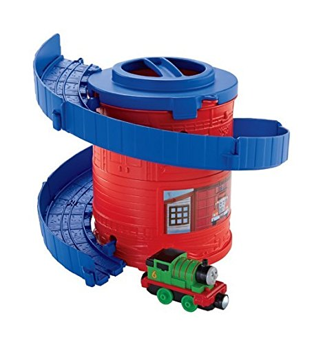 Thomas & Friends Fisher-Price Take-n-Play, Spiral Tower Tracks with (Take Along Diesel Engine)