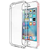 Funda iPhone SE, Bullspring Clear PC cubierta trasera con TPU parachoques marco híbrido transparente funda protectora para el iPhone SE iPhone 5 / 5s [Crystal Clear]