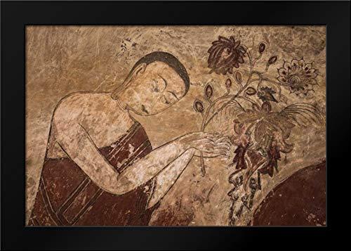 Myanmar, Bagan Artwork in a Buddhist Temple Framed Art Print by Zuckerman, Jim