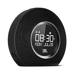 JBL Horizon Bluetooth Clock Radio with Usb Charging and Ambient Light, Black
