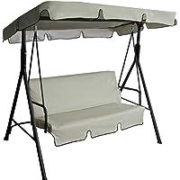 Maalr Juego de fundas de asiento para columpio, funda para cojín para hamaca de exterior de 3 plazas para hamaca, para…