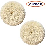 Sisha Wool Polishing Pads, 2 Pack 7' Buffing Pads with Hook and Loop Back for Compound, Cutting & Polishing, 100% Natural Wool, Thick and Aggressive
