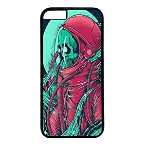 Iphone 6 case ,fashion durable black side design phone case, pc material phone cover ,with Skull Illustrations.