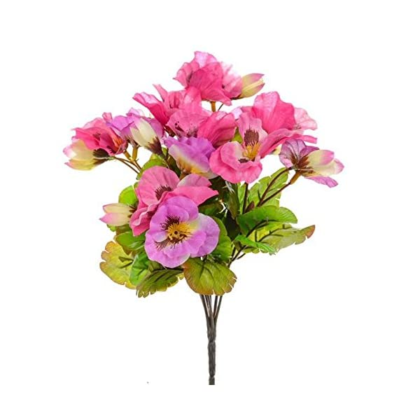 CB Imports 26 cm Artificial Pansy Bush, Pink by CB Imports