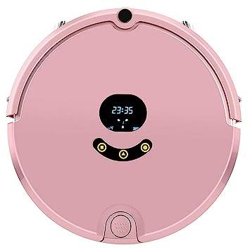 LWY Barrido Robot Inteligente Casa Barrer Máquina Trapeador Robot Aspirador Teléfono Móvil Control Inteligente con Limpieza De Memoria (Rosa Azul Oscuro) ...