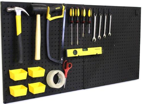 Pegboard Panels Wall Storage Kit in 48''- 72'' Widths Panel Set Garage Organizer (3) by WallPeg (Image #1)