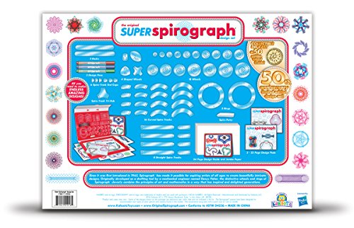 Super Spirograph 75-piece Jumbo Kit (50th Anniversary Edition)