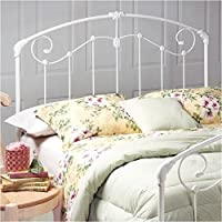 Hawthorne Collections Full Queen Metal Spindle Headboard in White