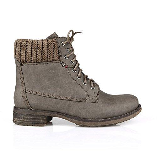 Mark Och Maddux Travis18 Spets-up Womens Boots I Taupe
