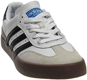 adidas Busenitz Vulc Samba Edition White/Core Black/Bluebird Skate Shoes-Men 8.0, Women 9.5