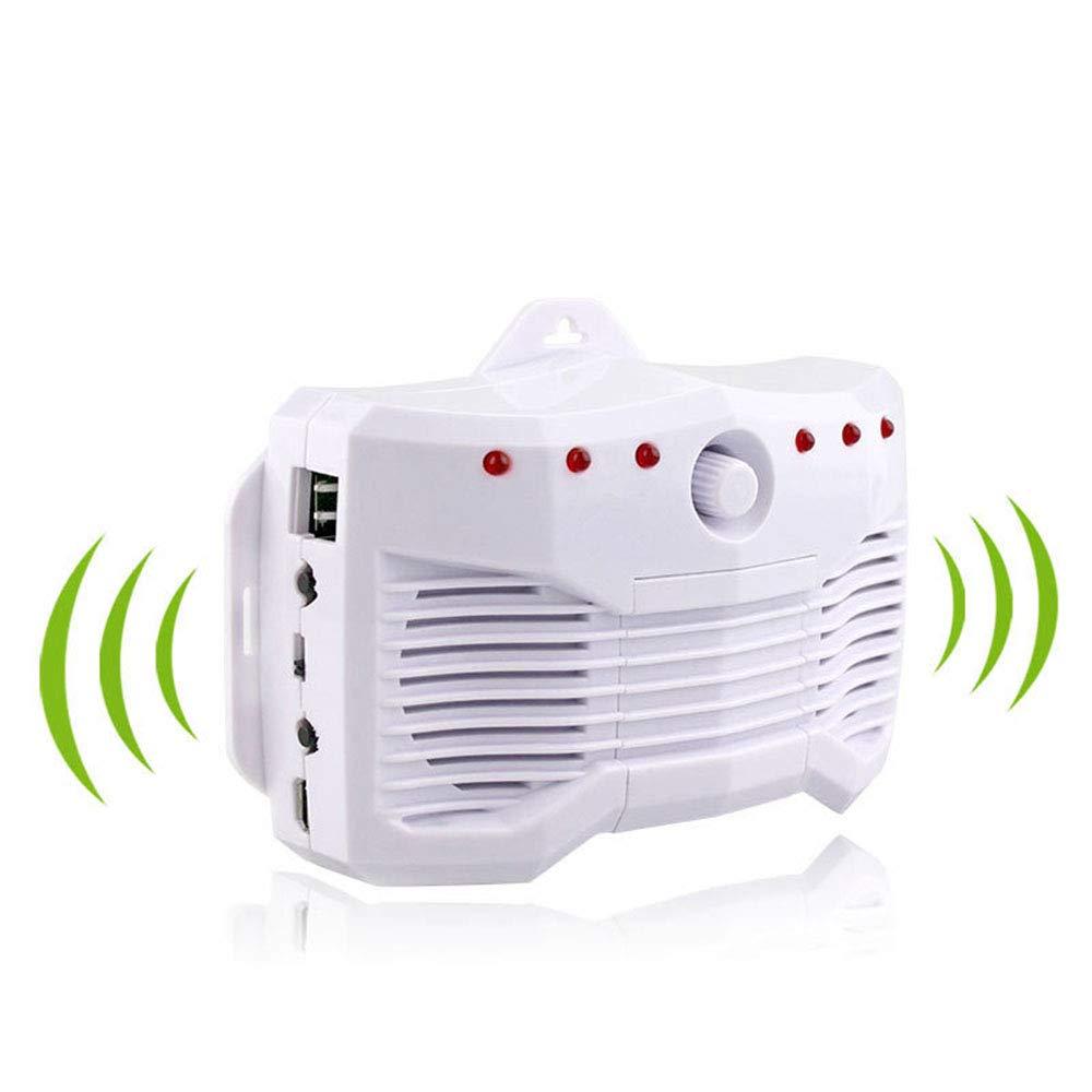 Repeller Auto, Repeller elettronico Auto Intelligente, Auto Multi-Funzione con Dual-Horn ultrasuoni a Tre Onde di conversione di frequenza Drive (Bianco)