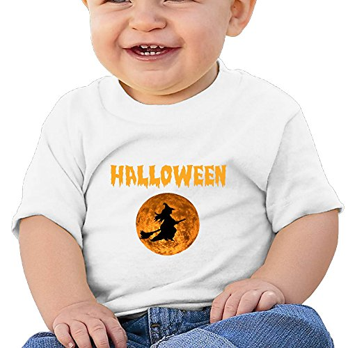 Halloween Moon Cool Graphic Baby O-neck T-Shirt Cotton