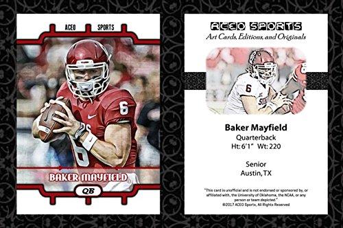 Baker Mayfield 2017 ACEO Sports Art Style Football Card - Oklahoma Sooners (Card Baker)