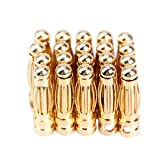 Vktech 20 Pairs Bullet Banana Plug Connector for RC Battery Gold Plated New (3 mm)