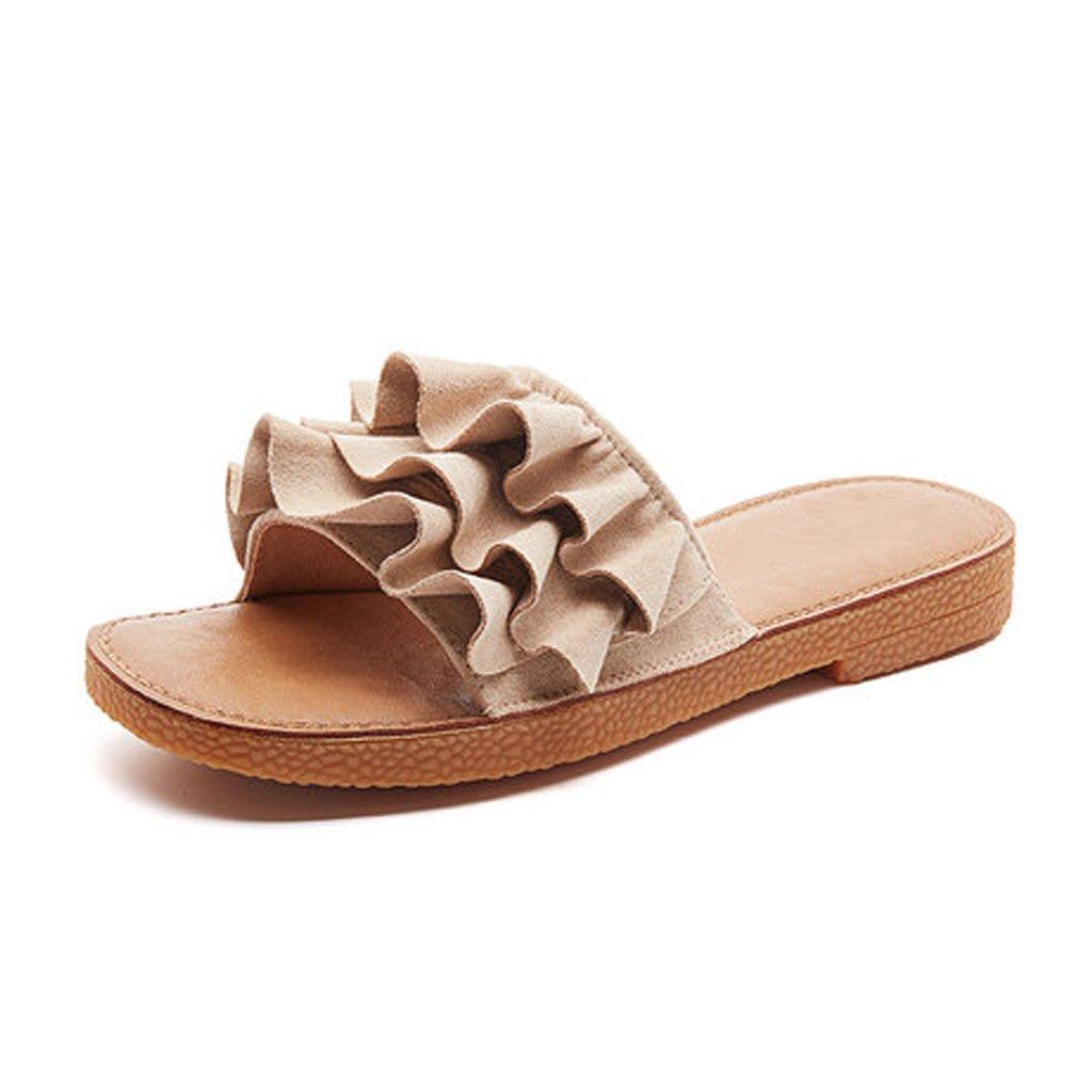 YUBINliangxie Chanclas Moda Ropa Exterior Zapatos De Playa Plano Net Red Antideslizante Personalidad Sandalias 37 EU
