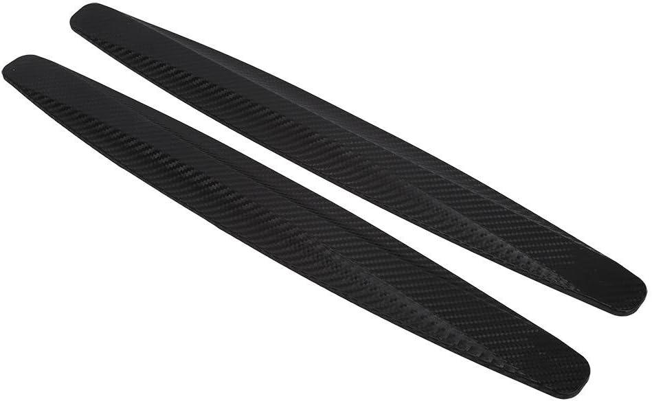 黑色 blanco gris 2 piezas de fibra de carbono parachoques delantero y trasero Protector de esquina Protector de ara/ñazos negro