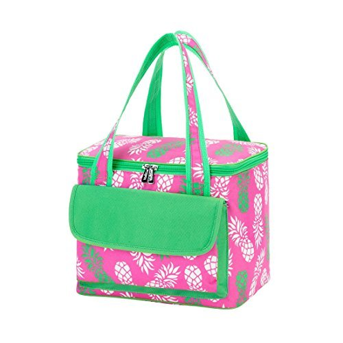 Pineapple Cooler (Pineapple Pink 8.5 x 11 inch Insulated Cooler Lunch Bag with Front Pocket)