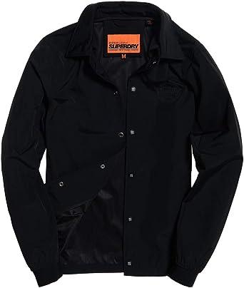 Superdry Skate Lux Coach Camisa Hombre Black: Amazon.es: Ropa y accesorios