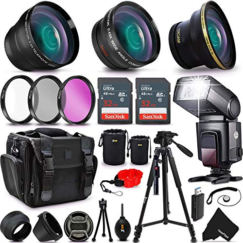 (Ultimate 37 Piece Accessory Kit for Sony Alpha a7II, a7IIK, Alpha 7 II, Alpha, 7, 7S, 7R, Alpha 7, Alpha a5100, a6000, a5000, a3000, NEX-3, NEX-3N, NEX-5N, NEX-5R, NEX-5T, NEX-6, NEX-7 Cameras)