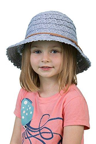 H-6041-73 Children's Lace Sun Hat - Denim -