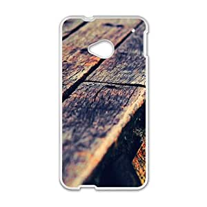 Artistic lumber plank road special phone case for HTC One M7