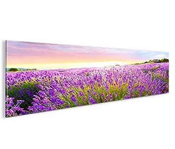 Lavendel Büsche V2 3 Bilder auf Leinwand Wandbild Edel Poster Bild