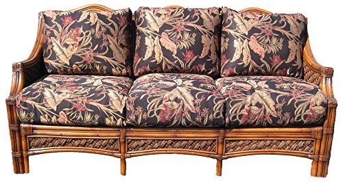 Wicker 3-Seat Sofa (Solar Kiwi (All Weather)) by Spice Island Wicker