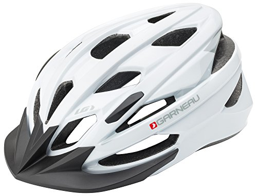 Louis Garneau Majestic Lightweight, Adjustable, CPSC Safety Certified Bike Helmet for Adults, White, X-Large