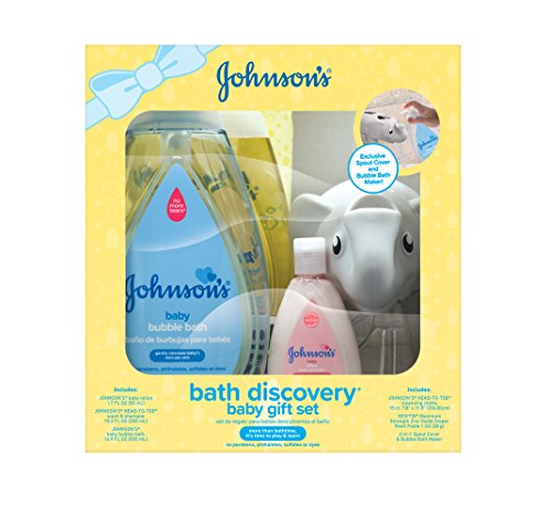 - Johnson's Bath Discovery Baby Gift Set, Baby Bath Essentials For Parents-To-Be, 6 Items