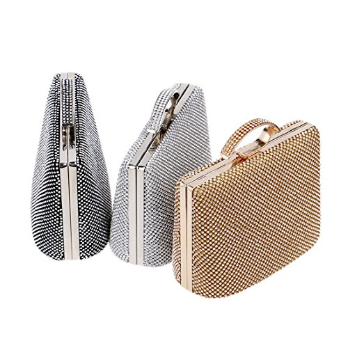 Diamond Portable Fly53 BLACK Handbag Clutch FLY Color Evening Bag And European Bag Style bag American Luxury Dress Silver Luxury Banquet Ladies evening r0rOwqA