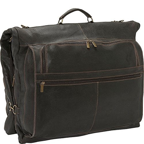 David King Distressed 42'' Deluxe Garment Bag in Distressed Brown by David King & Co