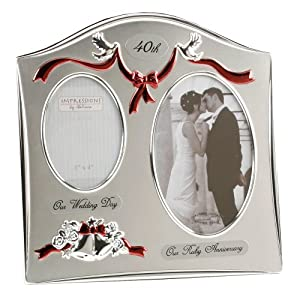 anniversary photo frame happy anniversary 40th ruby wedding anniversary