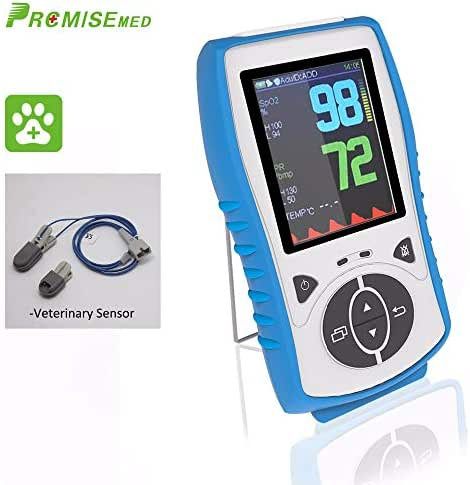 PRCMISEMED Plus oximeter Handheld Pulse Oximeter with Veterinary Sensor (Standard) (30-Day Guarantee), Just for Veterinary use (White)