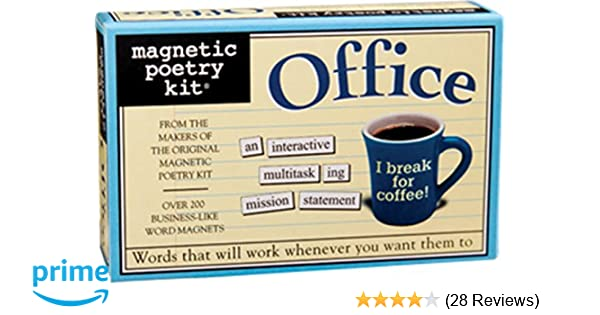 Magnetic Poetry Office Kit Words For Refrigerator